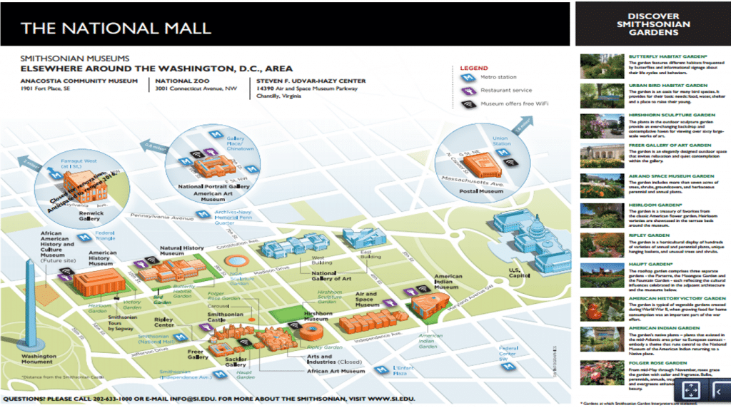 Smithsonian Washington Dc Map.30 Washington Dc Maps Attractions And Public Buildings
