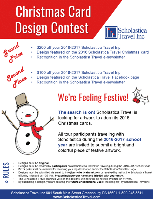 2016 Christmas Card Design Contest