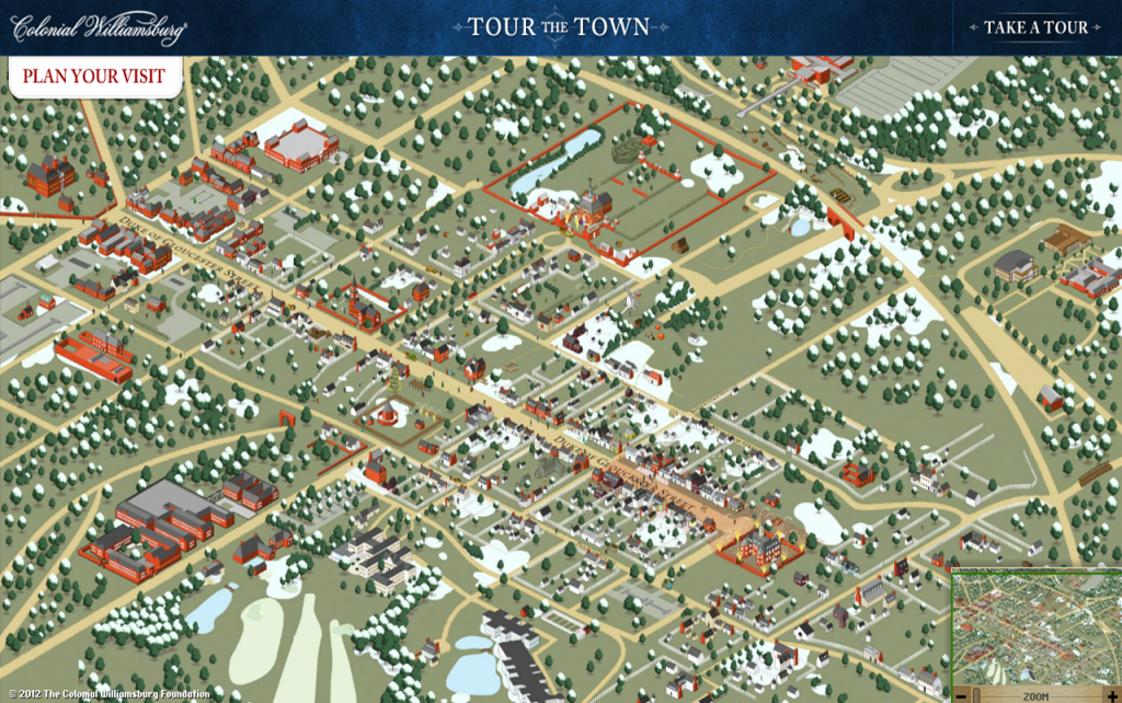 Virtual Tour Of Historic Places Explore Before Your Class - Colonial williamsburg map