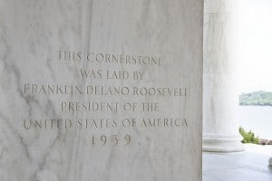 Jefferson Memorial Cornerstone