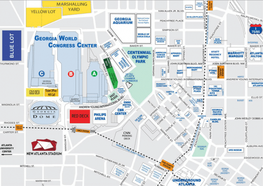 uga campus map with Atlanta Maps on Back To School College Dorm Rooms furthermore Duqu Facil Towers Pool furthermore Southern Football Report Stadium Countdown 5 Sanford Stadium besides Contact Information also Gtmi Building Directory.