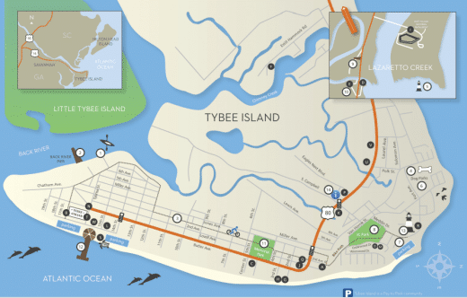 Useful Savannah Maps For Girl Scout Trips